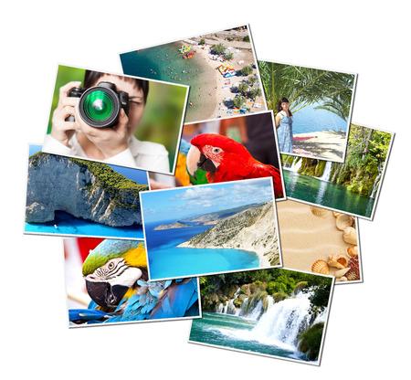 Een stapel van foto's met uw lege ruimte Stockfoto - 26343411