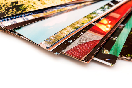 A pile of photographs with your empty space  photo