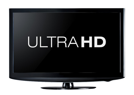 4K television display with comparison of resolutions  Ultra HD on on modern TV photo