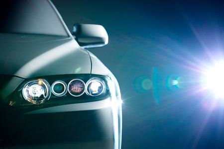 azul carro moderno closeup Imagens