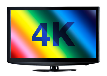 4K television display with comparison of resolutions photo