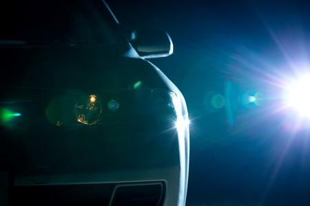Bleu closeup voiture moderne Banque d'images - 27543971