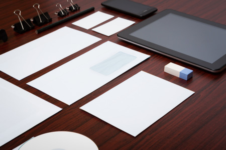 screen print: Template business for branding identity  Stock Photo