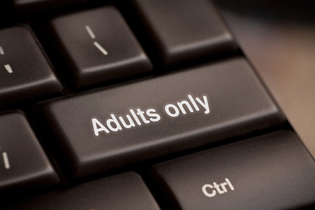 adults only message on enter key, for pornography websites concepts  photo