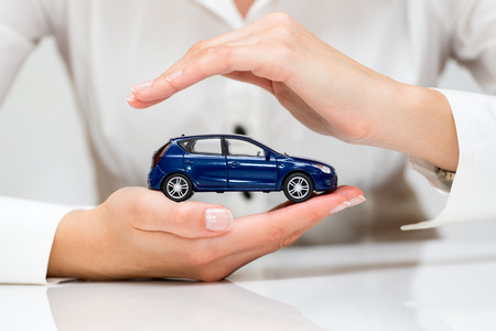 car insurance: Protection of car  Business concept  Stock Photo