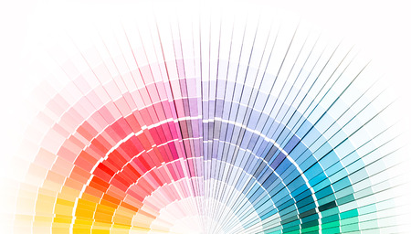 Colour swatches book  Rainbow sample colors catalogue  Stock Photo