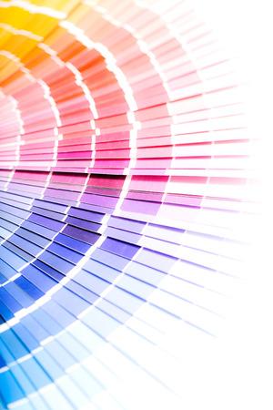 descriptive colours: Colour swatches book  Rainbow sample colors catalogue  Stock Photo