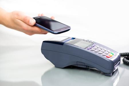 NFC - 近距離無線通信、モバイル決済 写真素材