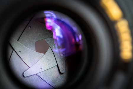 diaphragm: The diaphragm of a camera dslr lens aperture