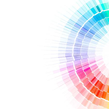 Kleur stalen boek Rainbow monster kleuren catalogus Stockfoto