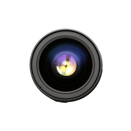 front angle: Camera lens front sight close up image  Stock Photo