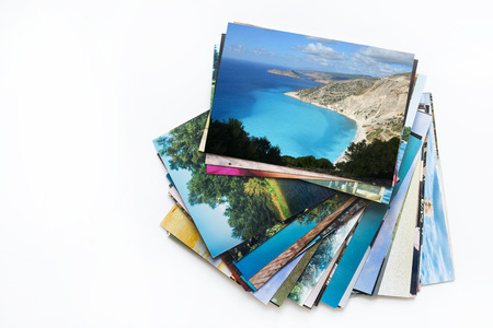 A pile of photographs with your empty space
