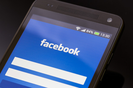 BELCHATOW, POLAND - APRIL 06, 2014: Facebook application on smart phone screen.