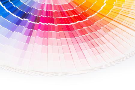 색상 견본 책. 무지개 샘플 색상 카탈로그. 스톡 콘텐츠