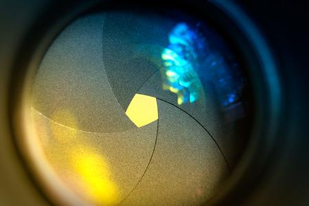 diaphragm: The diaphragm of a camera dslr lens aperture.