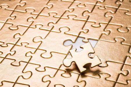 Last piece of jigsaw puzzle. Stockfoto