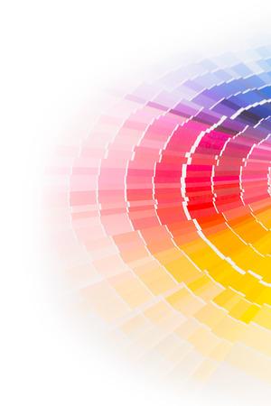 Farbe Farbfelder Buch. Regenbogen-Farben Probe Katalog ein. Standard-Bild - 32454985