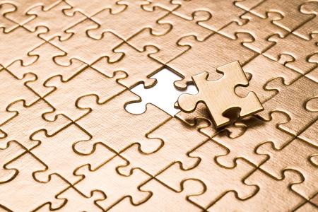 Laatste stukje van de puzzel. Stockfoto