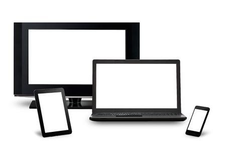 携帯電話デバイスのラップトップやタブレット pc にレスポンシブ web デザイン 写真素材