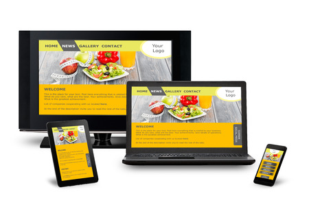 designing: Responsive web design on mobile phone devices laptop and tablet pc
