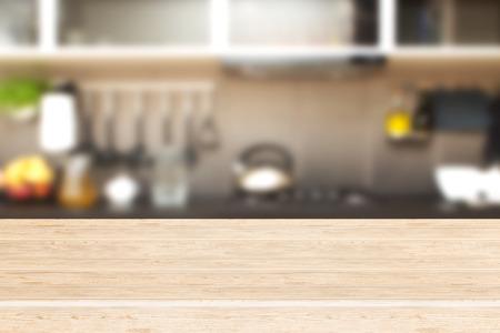 cucina moderna: Interno di cucina e spazio sulla scrivania. Archivio Fotografico