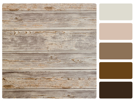 graphic designing: colour palette with complimentary swatches. Stock Photo