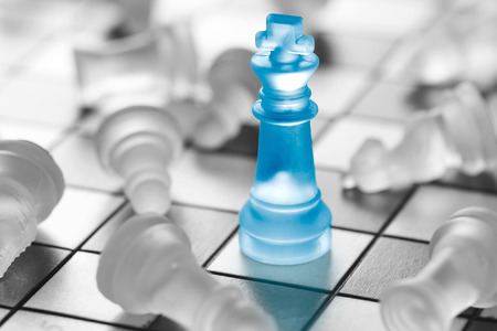 business concept: Chess business success, leadership concept.