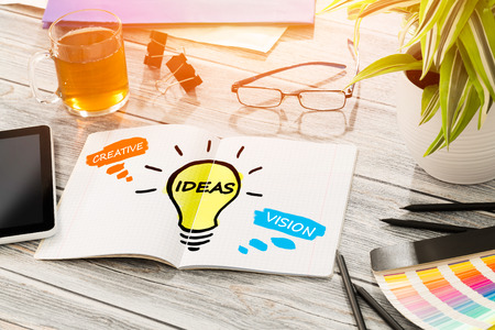 aspirations ideas: Ideas Creative Social Media Social Networking Vision Concept - Stock Image