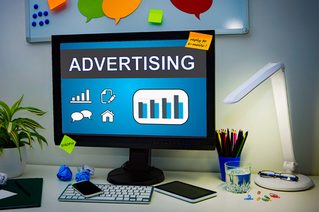advertise: Advertise Advertising Advertisement Branding Commercial - Stock Image