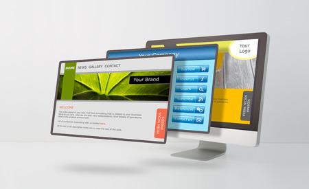 レスポンシブ web デザイン コンセプト。