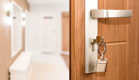 Key Door Real Estate Rent Home House Broker Buy - Stock Image Stock Photo