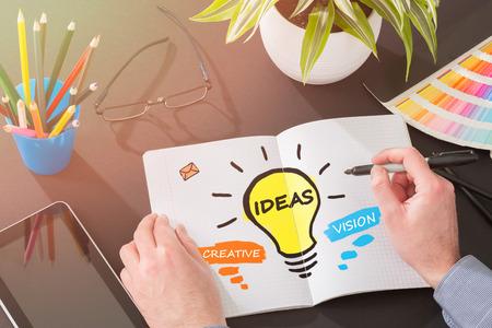 Ideas Creative Social Media Social Networking Vision Concept - Stock Image