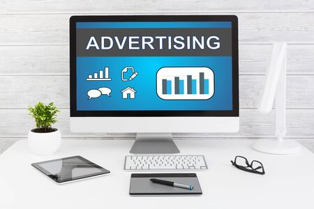 stock image: Advertise Advertising Advertisement Branding Commercial - Stock Image