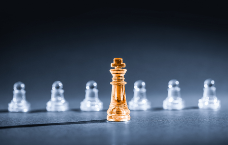 business leadership: Chess business success, leadership concept.