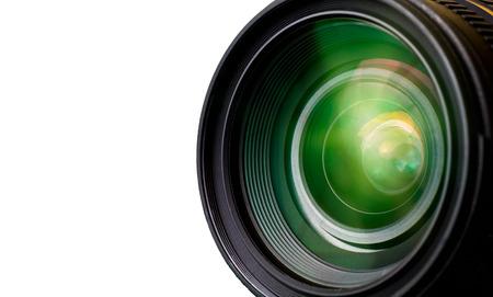 Camera lens with lense reflections. 版權商用圖片 - 55613539