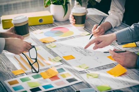 Brainstormen Brainstorm Zakenmensen Ontwerp Planning Stockfoto