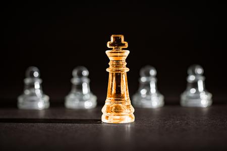 el éxito del negocio de ajedrez, concepto de la dirección.