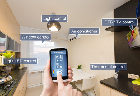 remote: Remote home control system on a digital tablet or phone.