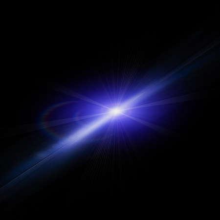 shine: Flare Light Shine Beam Star - Stock Image