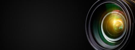 Kamera-Objektiv mit Objektiv Reflexionen. Standard-Bild - 57169487