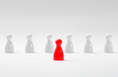 pawns: Leadership business concept with pawns.