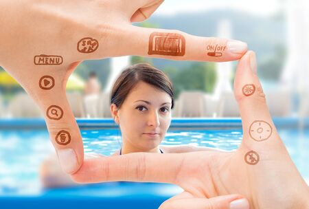 stock photograph: Hand symbol that means digital camera. Photography concepts.