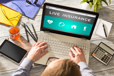 business life: Insurance Life Business Health - Stock Image