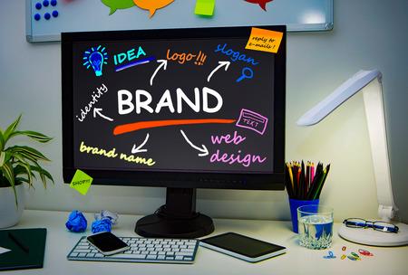 Brand Branding Design Marketing Drawing Concept - Stock Image