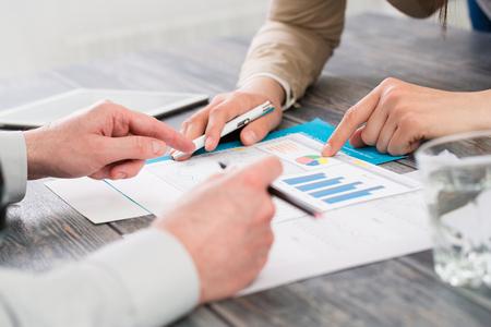 economic: business meeting plan report human market success training - stock image