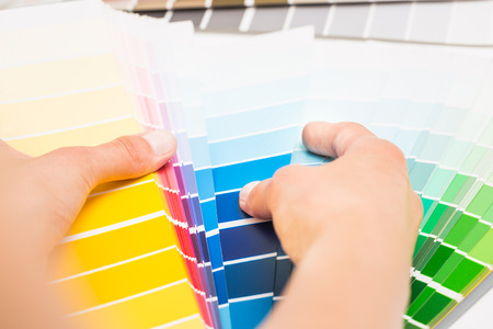 swatches: Colour swatches book. Rainbow sample colors catalogue.