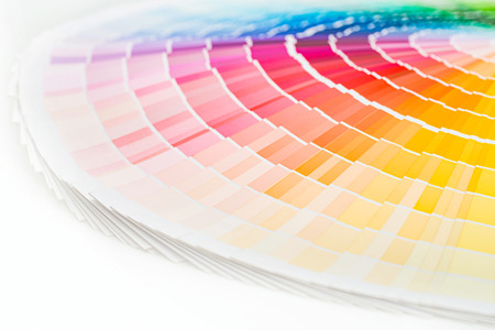 Colour swatches book. Rainbow sample colors catalogue. 版權商用圖片 - 62610222