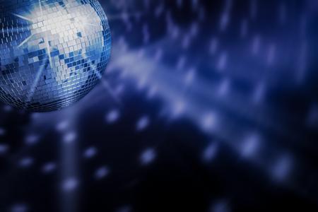 discobal achtergrond ruimte achtergrond licht discoball discotheek grafisch concept - stock
