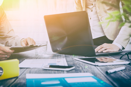 planning business career busy work laptop workplace - stock image