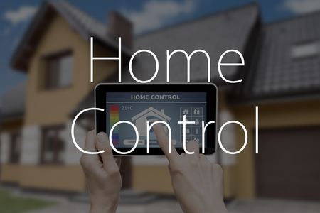 temperature controller: Remote home control system on a digital tablet or phone.